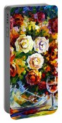 Roses And Wine Portable Battery Charger