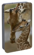 Rothschild Giraffe And Calf Portable Battery Charger