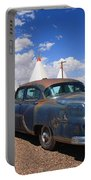Route 66 Wigwam Motel And Classic Car Portable Battery Charger