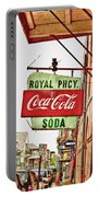 Royal Pharmacy Soda Sign Portable Battery Charger
