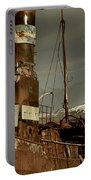 Rusted Whaling Boats Portable Battery Charger by Amanda Stadther