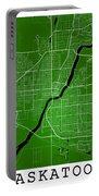 Saskatoon Street Map - Saskatoon Canada Road Map Art On Colored  Portable Battery Charger