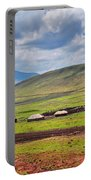 Savannah Landscape In Tanzania Portable Battery Charger