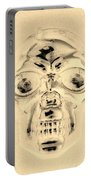 Skull In Sepia Portable Battery Charger