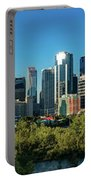 Skylines In A City, Bow River, Calgary Portable Battery Charger