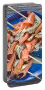 Smoked Salmon And Grilled Artichoke Portable Battery Charger