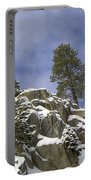 Snow Covered Cliffs And Trees II Portable Battery Charger