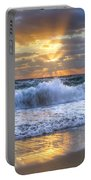 Splash Sunrise Portable Battery Charger by Debra and Dave Vanderlaan