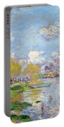 Spring By The Seine Portable Battery Charger