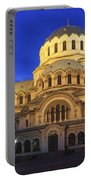St Alexander Nevsky Cathedral At Dusk Sofia Bulgaria Portable Battery Charger