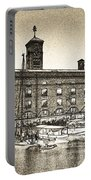 St Katherine's Dock London Sketch Portable Battery Charger