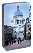 St. Paul's Cathedral London At Dusk Portable Battery Charger