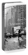 Stay Merry - Christmas Is Coming - Holiday And Christmas Card Portable Battery Charger