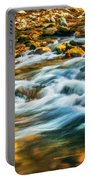 Stream Fall Colors Great Smoky Mountains Painted  Portable Battery Charger