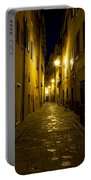 Street Alley By Night Portable Battery Charger