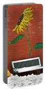 Sunflower And Snow Portable Battery Charger