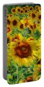 Sunny Sunflowers Portable Battery Charger