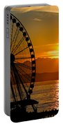 Sunset Ferris Wheel Portable Battery Charger