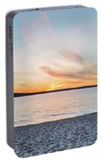 Sunset On South Bay, Lake Superior Portable Battery Charger