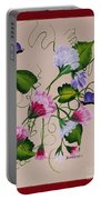 Sweet Peas And Butterflies Portable Battery Charger
