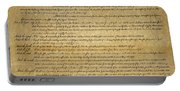 The Bill Of Rights, 1789 Portable Battery Charger