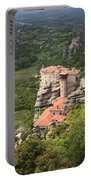 The Holy Monastery Of Rousanou Meteora Greece  Portable Battery Charger