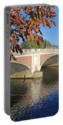 The River Thames At Hampton Court London Portable Battery Charger