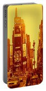 42nd Street And Times Square Manhattan Portable Battery Charger
