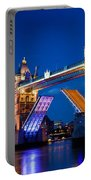 Tower Bridge In London Uk At Night Portable Battery Charger