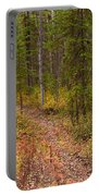 Trail In Golden Aspen Forest Portable Battery Charger