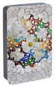 Trencadis Mosaic In Park Guell In Barcelona Portable Battery Charger