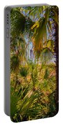 Tropical Forest Palm Trees In Sunlight Portable Battery Charger