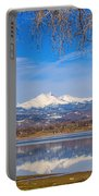 Twin Peaks Longs And Meeker Lake Reflection Portable Battery Charger