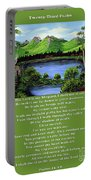 Twin Ponds And 23 Psalm On Green Portable Battery Charger