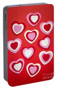 Valentines Day Hearts Portable Battery Charger