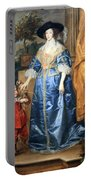 Van Dyck's Queen Henrietta Maria With Sir Jeffrey Hudson Portable Battery Charger