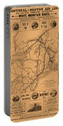 Vintage Train Ad 1887 Portable Battery Charger