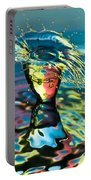 Water Splash Having A Bad Hair Day Portable Battery Charger