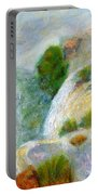 Waterfall In The Mist Portable Battery Charger