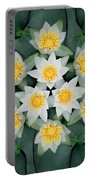 Waterlily Mandala Portable Battery Charger