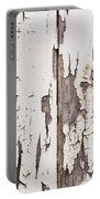 Weathered Paint On Wood Portable Battery Charger