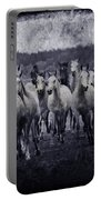 White Horses  Portable Battery Charger
