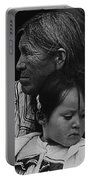 White Mountain Apache Elder And Granddaughter Rodeo White River Arizona 1970 Portable Battery Charger