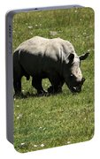 White Rhinoceros Calf  Portable Battery Charger