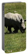 White Rhinoceros Calf  Portable Battery Charger by Aidan Moran