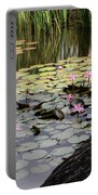 Wild Water Lilies In The River Portable Battery Charger