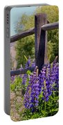 Wildflowers On The Fence Portable Battery Charger