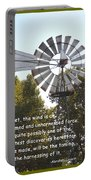 Windmill With Lincoln Quote Portable Battery Charger