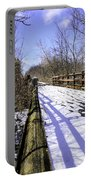 Winter On Macomb Orchard Trail Portable Battery Charger