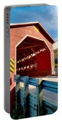 Wooden Covered Bridge  Portable Battery Charger